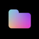font awesome icon folder bunt eingefärbt