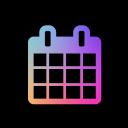 font awesome icon calendar bunt eingefärbt
